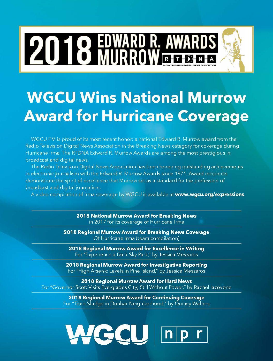 WGCU FM wins four more national awards